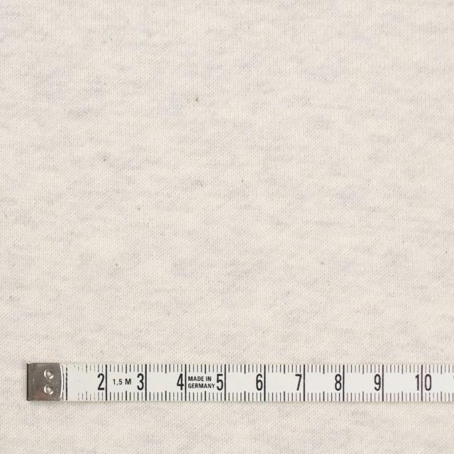 コットン×無地(アイボリー)×裏毛ニット(裏面起毛) イメージ4