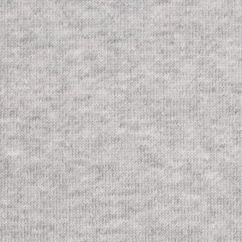 コットン×無地(グレー)×裏毛ニット(裏面起毛) サムネイル1