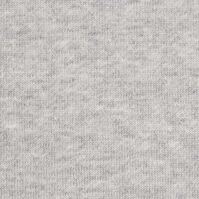コットン×無地(グレー)×裏毛ニット(裏面起毛) イメージ1