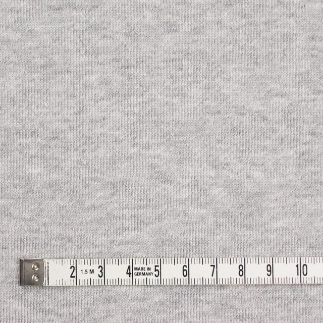 コットン×無地(グレー)×裏毛ニット(裏面起毛) イメージ4
