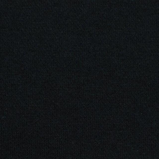 コットン×無地(ブラック)×裏毛ニット(裏面起毛) イメージ1