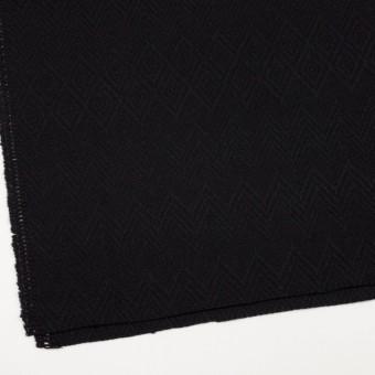 ウール&ポリエステル×幾何学模様(ブラック)×ジャガード_パネル サムネイル2