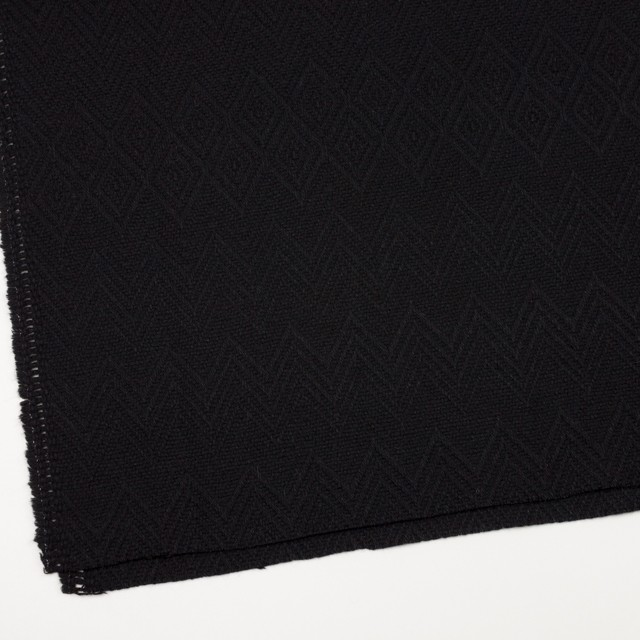 ウール&ポリエステル×幾何学模様(ブラック)×ジャガード_パネル イメージ2