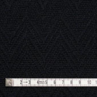 ウール&ポリエステル×幾何学模様(ブラック)×ジャガード_パネル サムネイル4