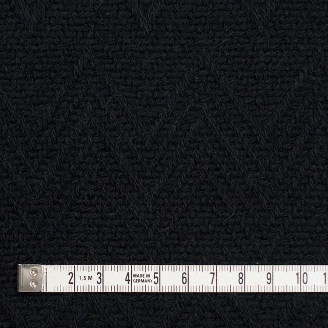 ウール&ポリエステル×幾何学模様(ブラック)×ジャガード_パネル イメージ4