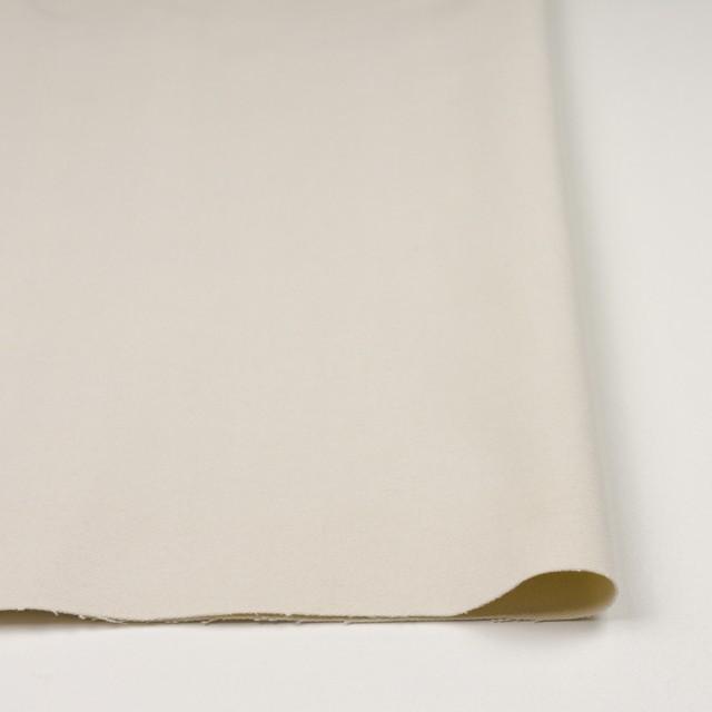 コットン&ポリウレタン×無地(アイボリー)×ビエラストレッチ_全2色 イメージ3