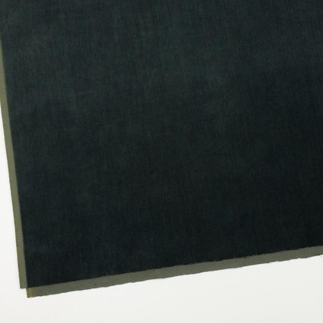 コットン&ポリウレタン×無地(ダークグリーン)×ベッチンストレッチ イメージ2