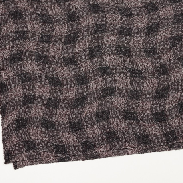 ウール×幾何学模様(アッシュパープル)×ガーゼ イメージ2