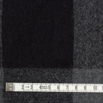 ウール×チェック(チャコールグレー&ブラック)×ガーゼ サムネイル4