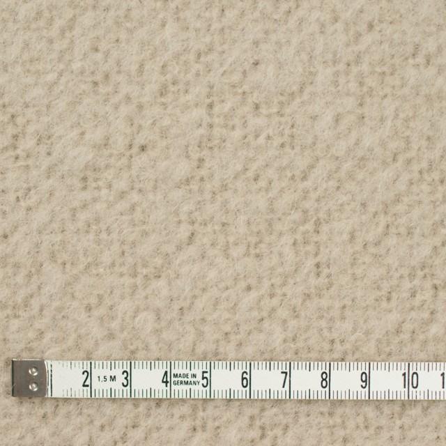 アルパカ&ウール混×無地(グレイッシュベージュ)×ループニット_イタリア製 イメージ4