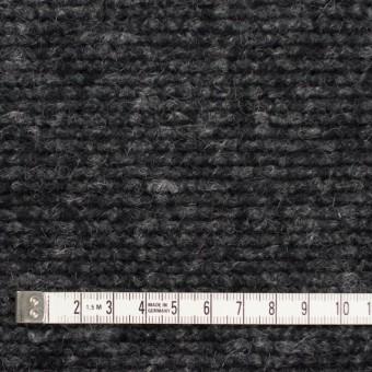 ウール&ポリエステル混×無地(チャコールグレー)×ループニット サムネイル4