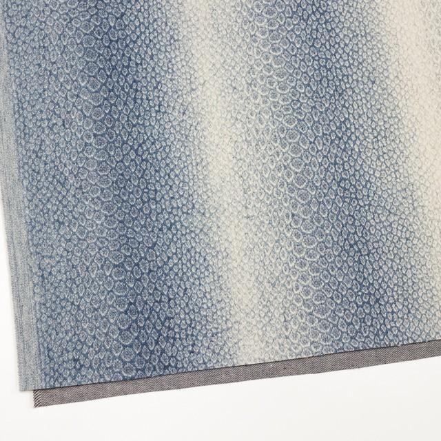 コットン×スネーク(ブルー)×デニム イメージ2