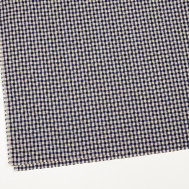 リネン×チェック(グレイッシュベージュ&ネイビー)×薄キャンバス イメージ2