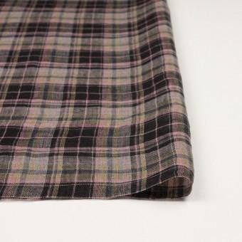 リネン×チェック(ピンク&ブラック)×ガーゼ_全3色 サムネイル3