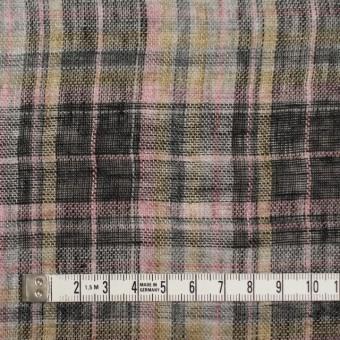 リネン×チェック(ピンク&ブラック)×ガーゼ_全3色 サムネイル4
