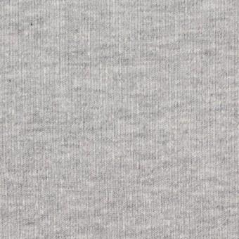 コットン×無地(グレー)×吊編み裏毛ニット