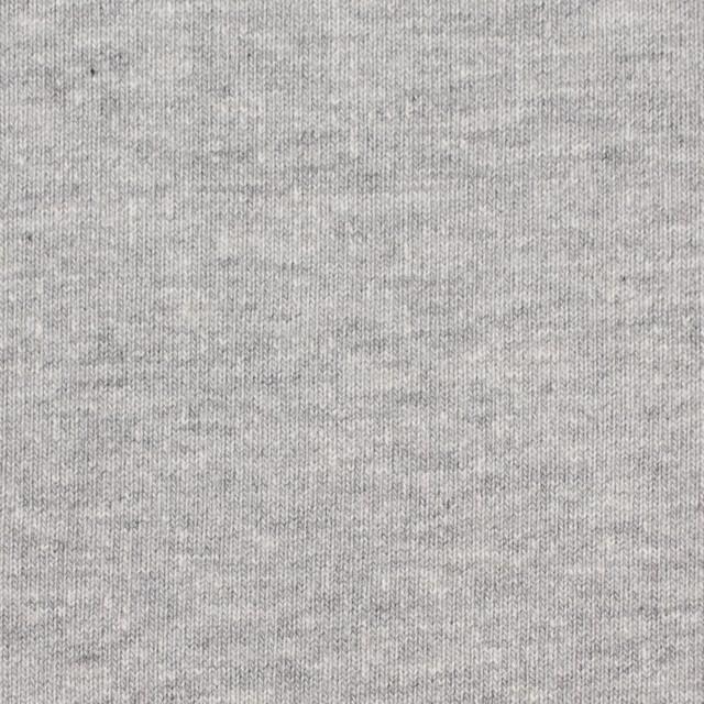 コットン×無地(グレー)×吊編み裏毛ニット イメージ1