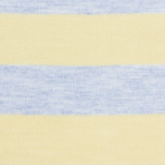 【150cmカット】コットン&モダール×ボーダー(イエロー&サックス)×天竺ニット_全3色