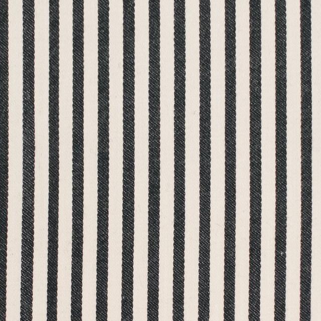 コットン×ストライプ(キナリ&ブラック)×サテン イメージ1