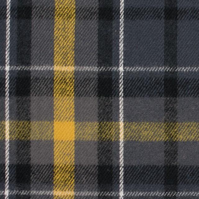 コットン×チェック(イエロー&グレー)×ビエラ_全3柄 イメージ1