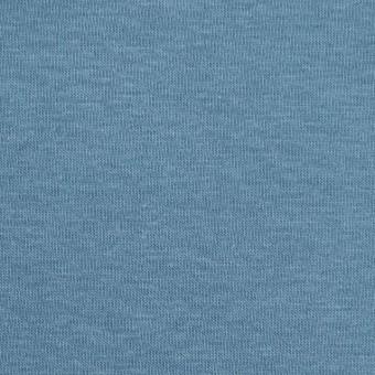 コットン&ポリウレタン×無地(サックスグレー)×裏毛ニット サムネイル1