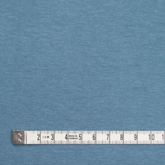 コットン&ポリウレタン×無地(サックスグレー)×裏毛ニット サムネイル4