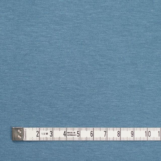 コットン&ポリウレタン×無地(サックスグレー)×裏毛ニット イメージ4