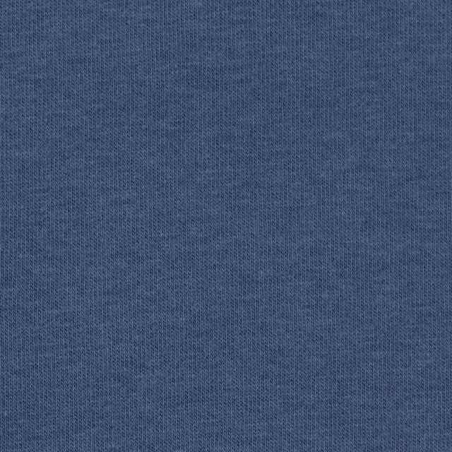 コットン&ポリウレタン×無地(ブルーグレー)×裏毛ニット イメージ1