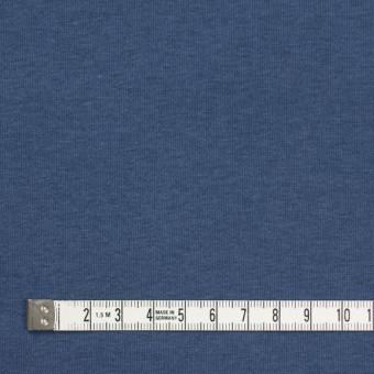 コットン&ポリウレタン×無地(ブルーグレー)×裏毛ニット サムネイル4