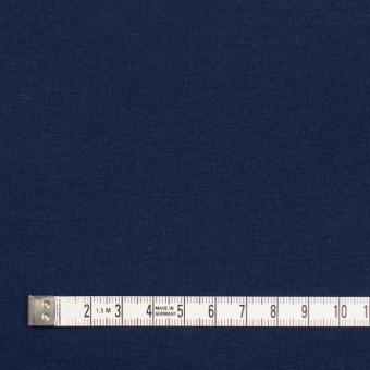 コットン&ポリウレタン×無地(ネイビー)×裏毛ニット サムネイル4