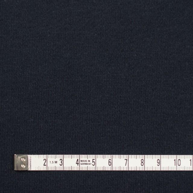 コットン×無地(ライトブラック)×裏毛ニット イメージ4