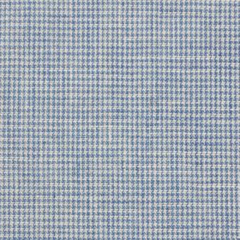 リネン&コットン×チェック(サックス)×千鳥格子_全2色 サムネイル1