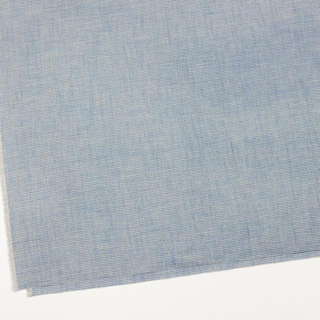 リネン&コットン×チェック(サックス)×千鳥格子_全2色 イメージ2