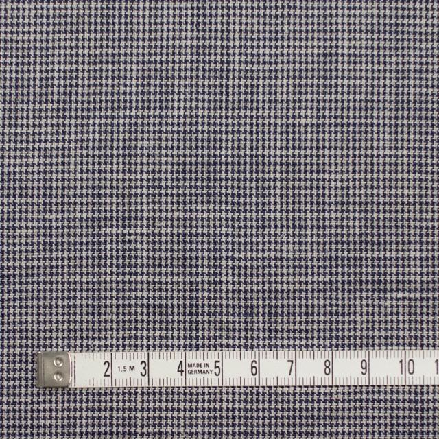 リネン&コットン×チェック(ネイビー)×千鳥格子_全2色 イメージ4