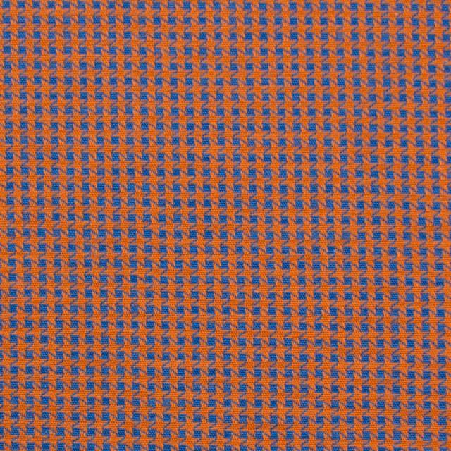 コットン×ウインドミル(コーラルオレンジ&スカイブルー)×かわり織_全5色 イメージ1