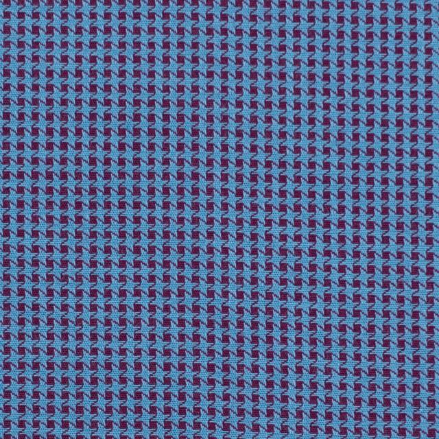 コットン×ウインドミル(シアン&パープル)×かわり織_全5色 イメージ1