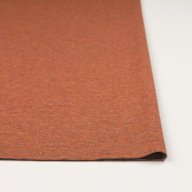 コットン×ボーダー(オレンジ&グレー)×接結天竺ニット イメージ3