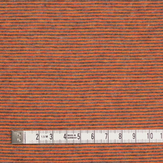 コットン×ボーダー(オレンジ&グレー)×接結天竺ニット イメージ4