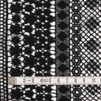 コットン×幾何学模様(ブラック)×ケミカルレース サムネイル3