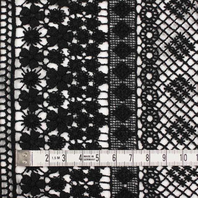 コットン×幾何学模様(ブラック)×ケミカルレース イメージ3