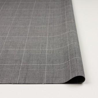 コットン&ポリウレタン×チェック(ライトグレー&ブラック)×かわり織ストレッチ サムネイル3