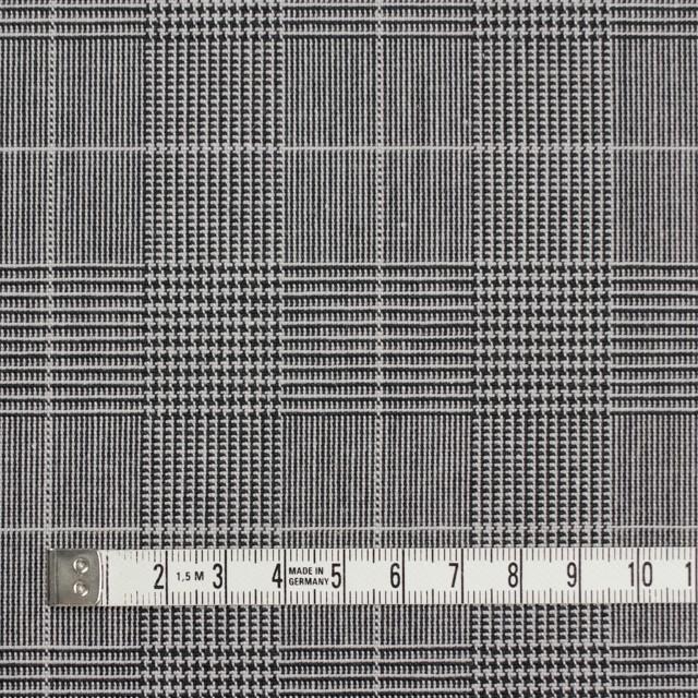 コットン&ポリウレタン×チェック(ライトグレー&ブラック)×かわり織ストレッチ イメージ4