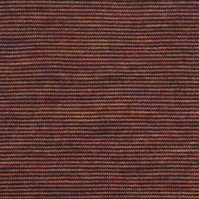 ウール&ナイロン×ボーダー(セピアミックス)×天竺ニット イメージ1