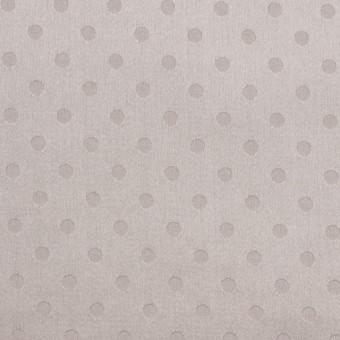 シルク&コットン×ドット(パールグレー)×サテンジャガード_全3色