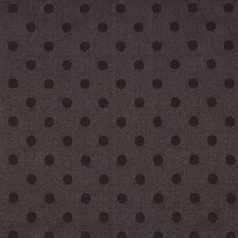 シルク&コットン×ドット(ビターチョコレート)×サテンジャガード_全3色