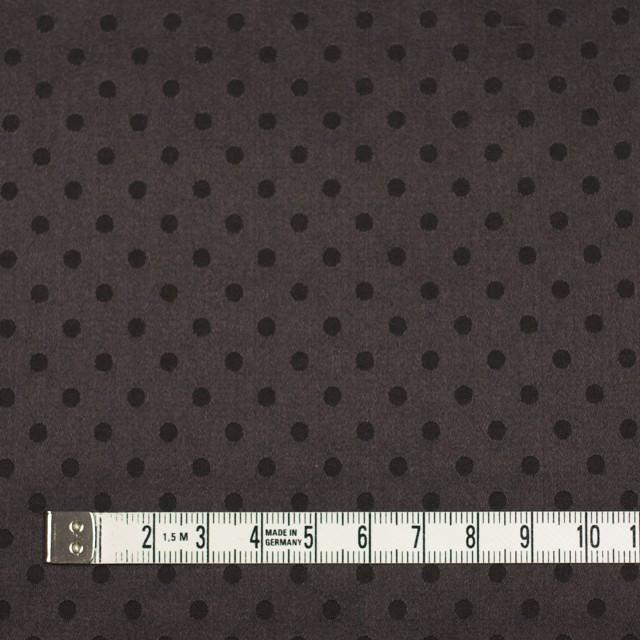 シルク&コットン×ドット(ビターチョコレート)×サテンジャガード_全3色 イメージ4