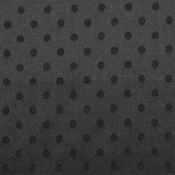 シルク&コットン×ドット(ブラック)×サテンジャガード_全3色