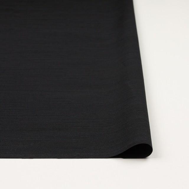 トリアセテート&ポリエステル×無地(ブラック)×グログラン イメージ3