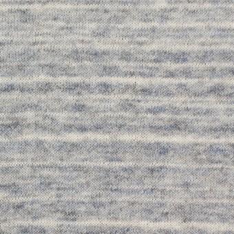 コットン&リネン×ミックス(ブルーグレー)×天竺ニット_全2色