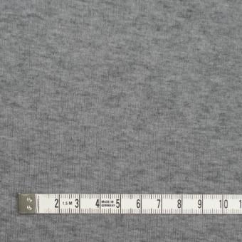 コットン&カシミア×無地(グレー)×フライスニット サムネイル4